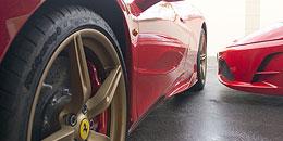 Ferrari Ausfahrt beim Autohaus-Erlebnistag
