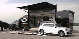 Audi-Servicetruck beim Autohaus-Erlebnistag in Freiburg